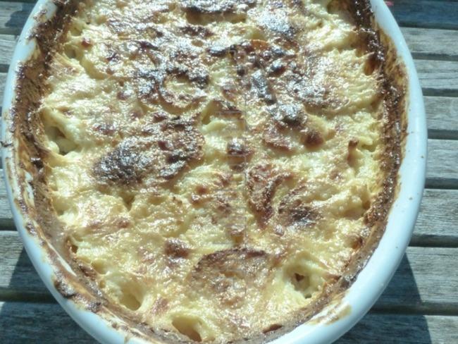Gratin de panais à la crème de parmesan