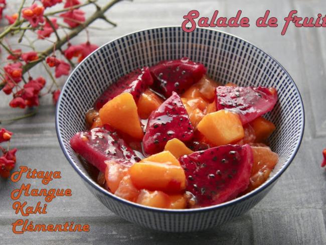 Salade de fruits pitaya et mangue