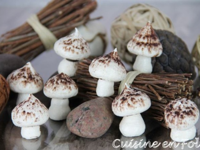 Meringues champignon