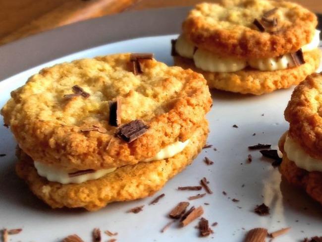 galettes suédoises, cream cheese chocolat blanc - recette par