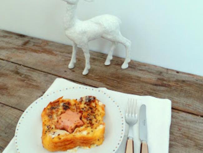 Brioche perdue salée au foie gras et épices du Trappeur