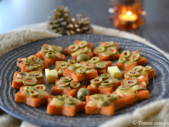 Étoiles de Noël à la polenta