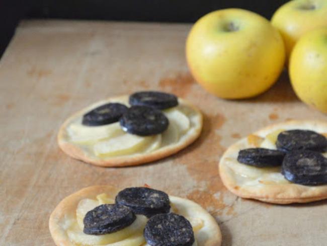 Tartelettes Pommes et Boudin noir
