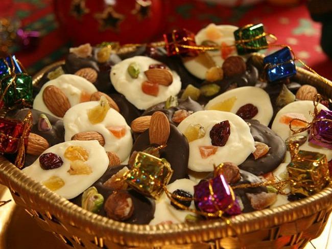 Mendiants aux trois chocolats
