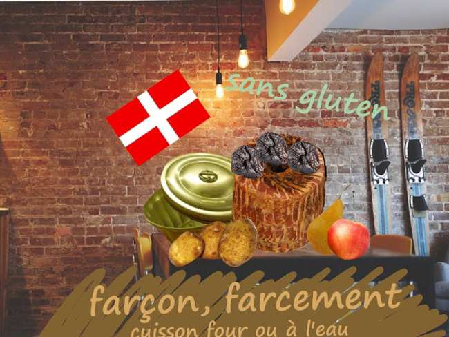 Farçon savoyard, une boule de pommes de terre aux lardons