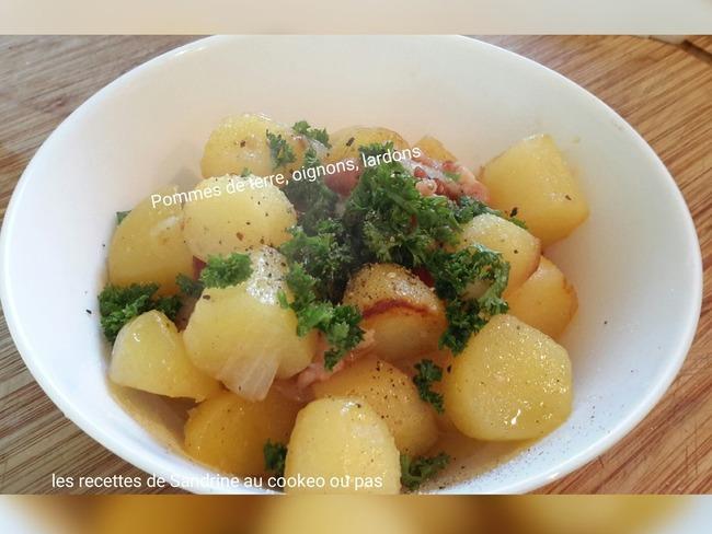 Pommes de terre oignons lardons