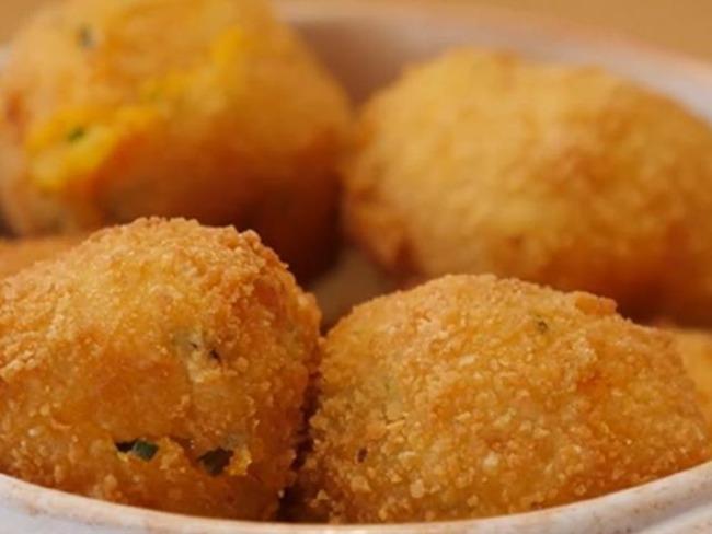 Croquette de patate douce, cœur fondant de raclette