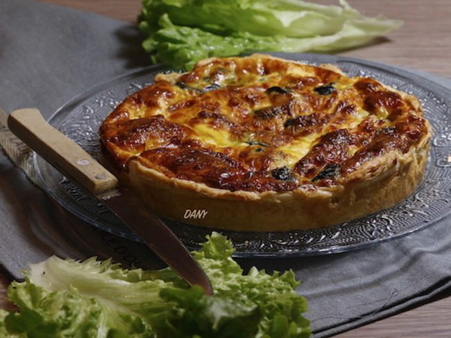 Quiche aux escargots