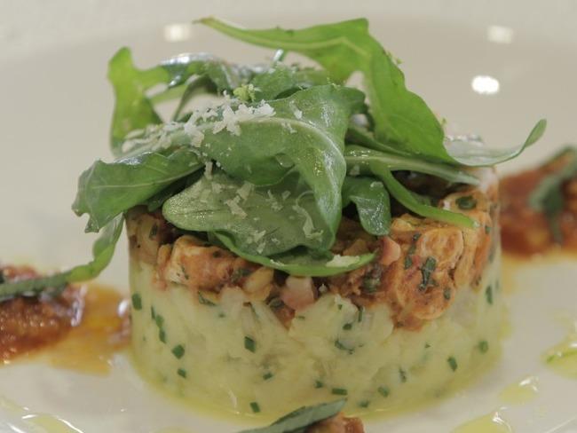 Mitonné de poulpe, sauce aux olives citron confit