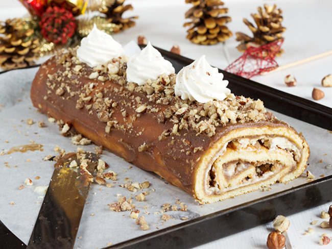 La traditionnelle bûche aux marrons