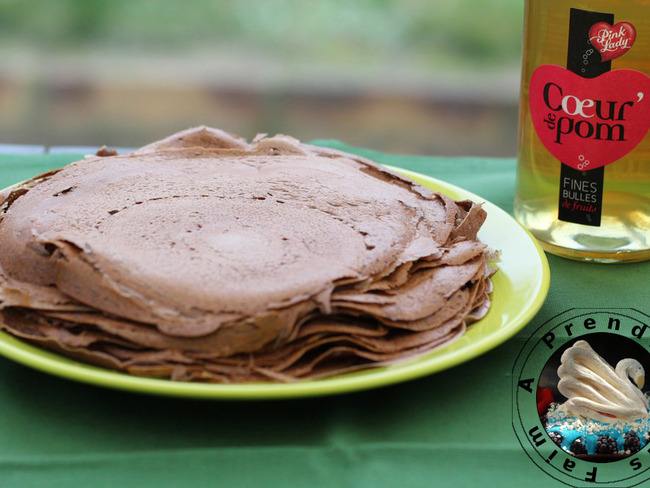 Crêpes sans gluten sarrasin cacao