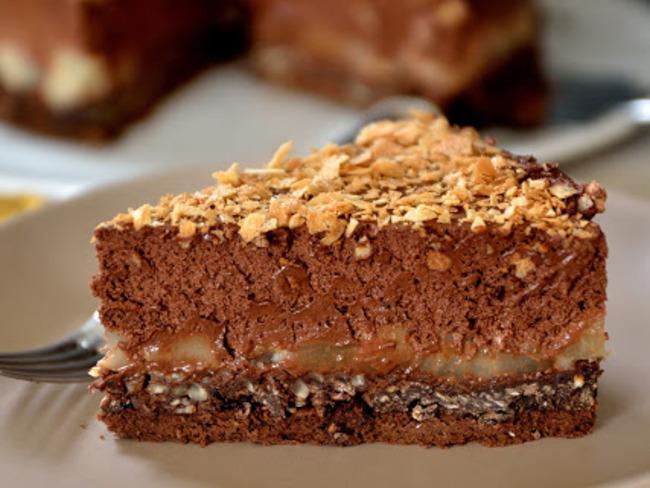 Gâteau crousti-fondant chocolat poire