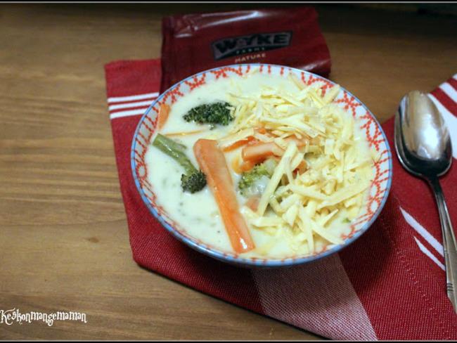 Soupe au brocolis au chedda
