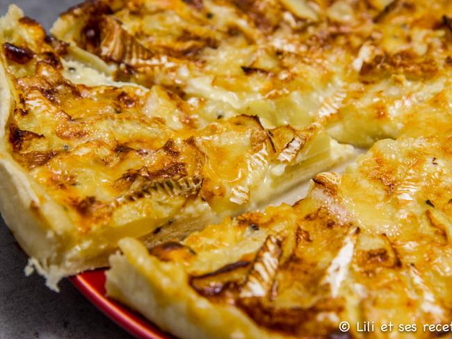 Tarte camembert et pommes