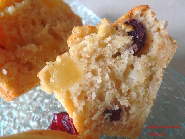 Muffins épicés poirescCranberries