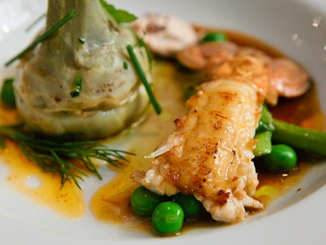 Salade de langoustines et légumes primeur