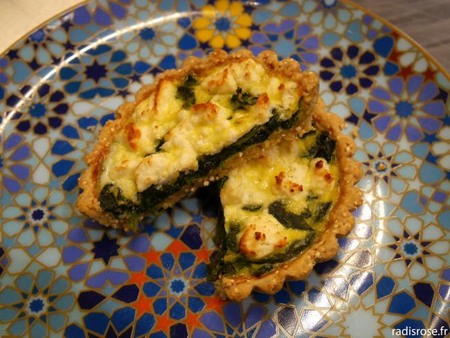 Tarte croustillante quinoa feta et épinard