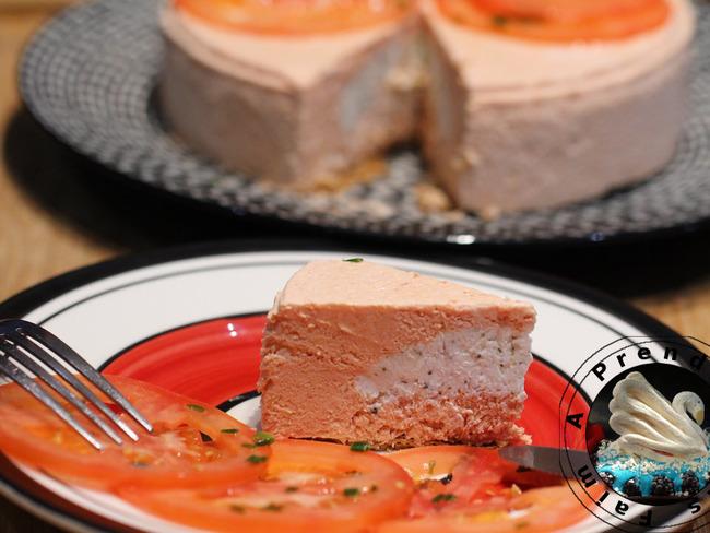 Bavarois tomate et fromage de chèvre