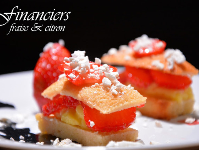 Financiers fraise et citron