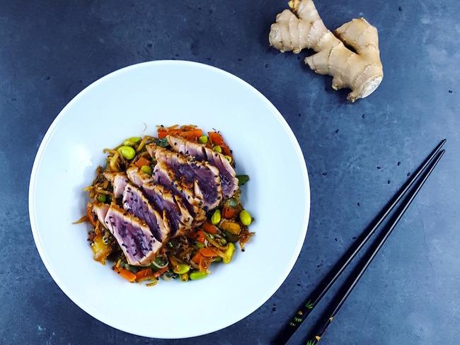 Wok de thon et légumes minute
