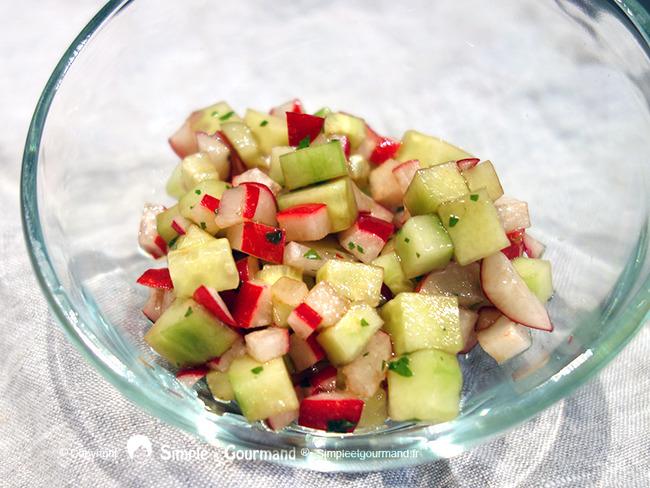 Salade radis et concombre