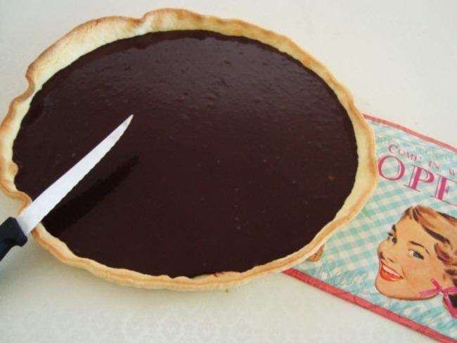 Tarte minute au chocolat