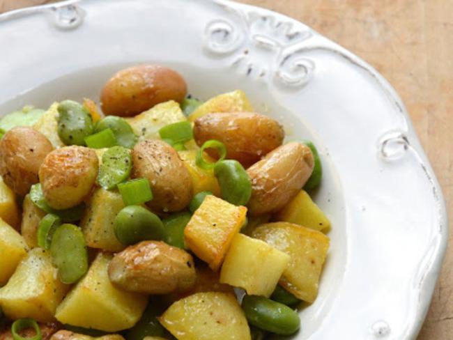 Pommes de terres nouvelles aux fèves