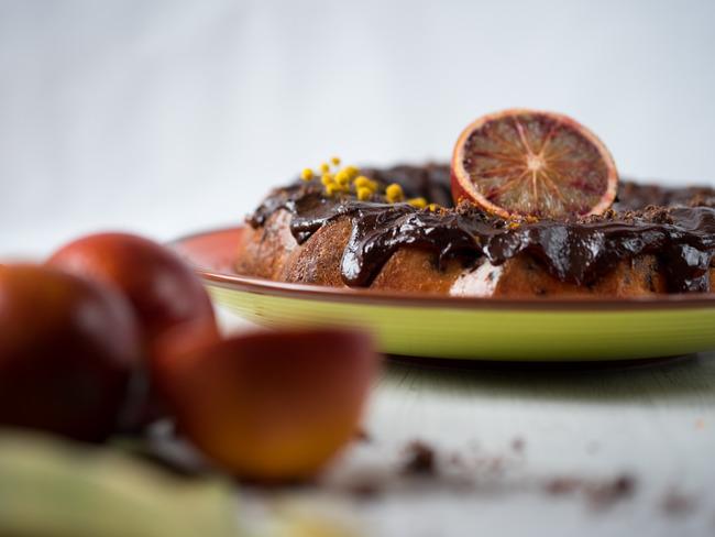 Bundt cake orange sanguine et chocolat