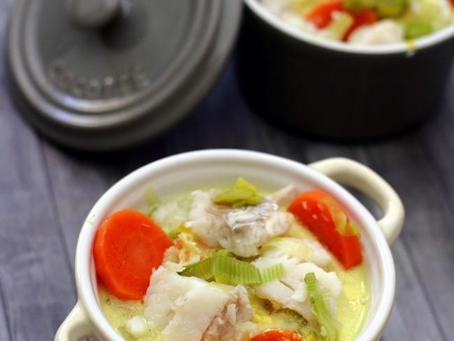 Cassolette de poisson aux légumes