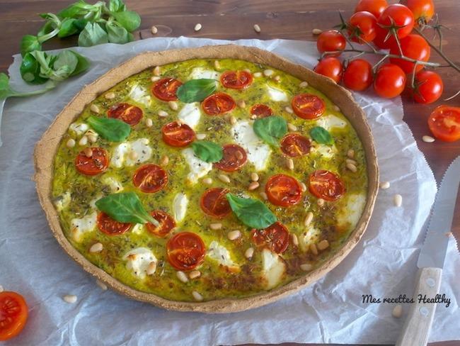 Tarte à la courgette et tomate au chèvre frais