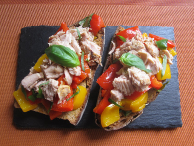 Bruschetta thon poivrons