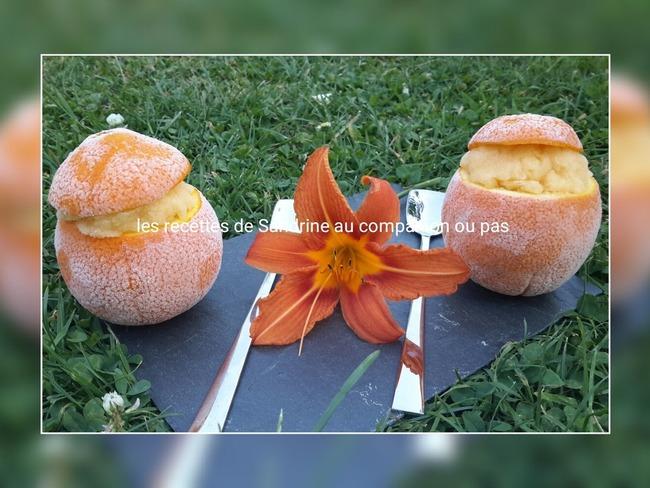 Orange givrée recette facile et rapide sans sorbetière ...