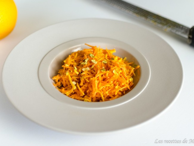 Salade orange : carotte, mimolette et orange