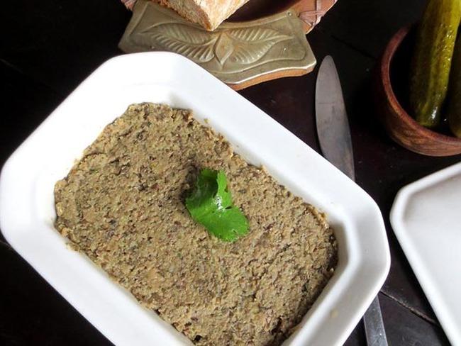 Pâté végétal aux lentilles et champignons