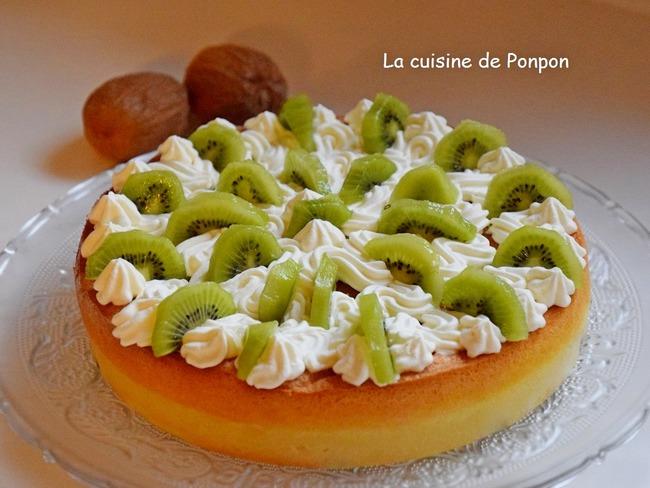 Gâteau magique aux kiwis