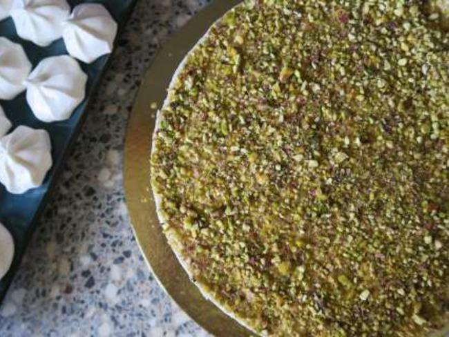Entremet à la pistache et à la vanille