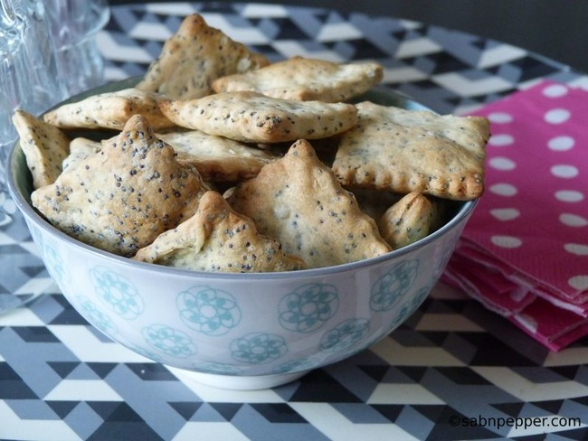 Crackers au pavot