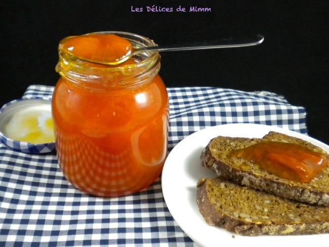 Confiture d'abricots parfumée à l'Amaretto