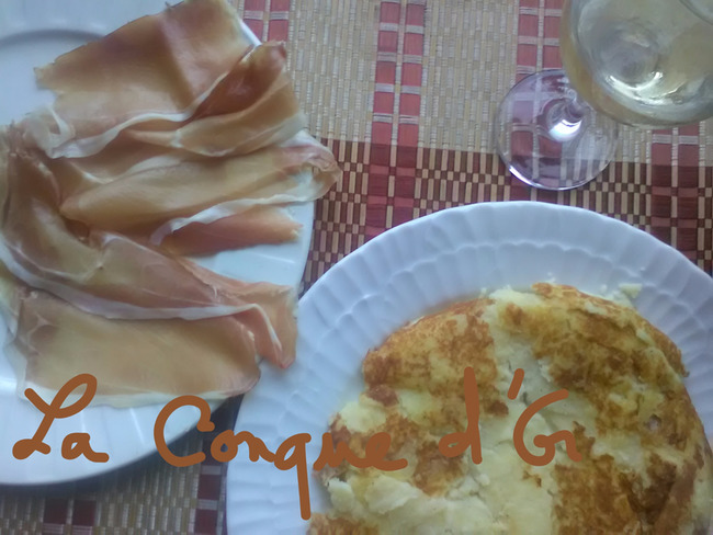 Gâteau de pommes de terre, speck et provola