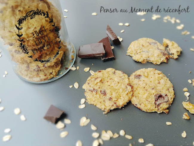 Cookie avoine chocolat