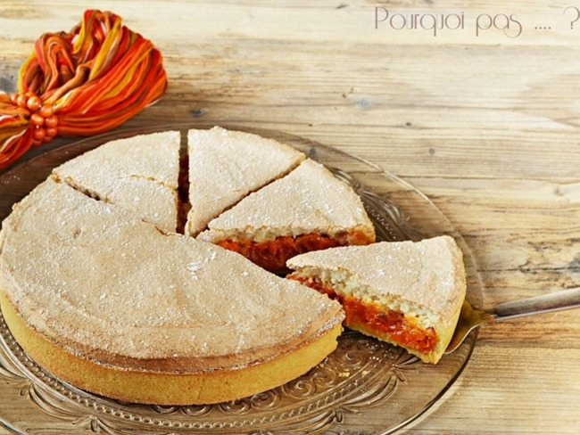"""Tarte macaronée Abricot, Amande et Citron confit façon """"Fenetra"""""""