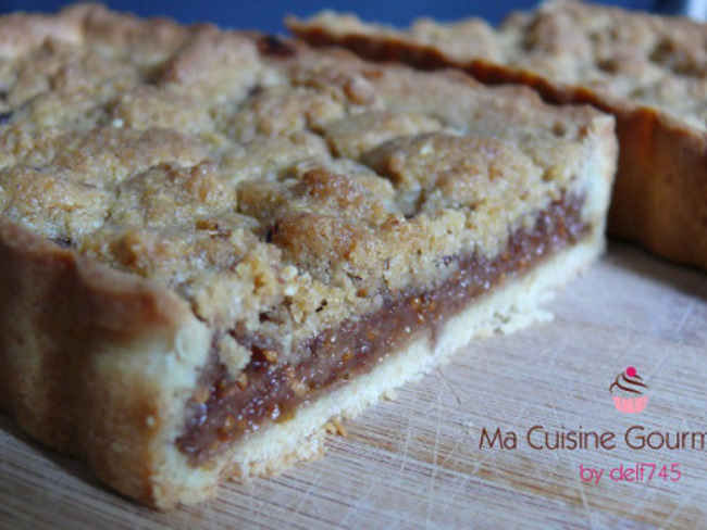 Tarte crumble figue