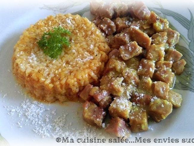 Petits dés curry coco et riz curry rapide