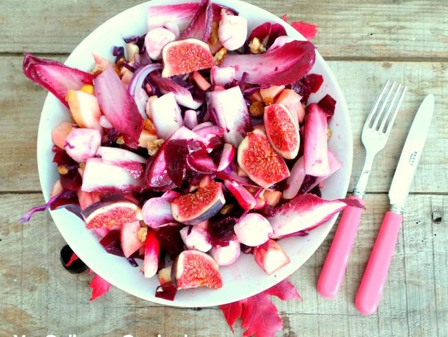 Salade rose automnale