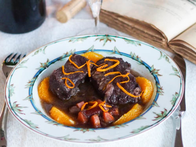 Daube de bœuf à l'orange