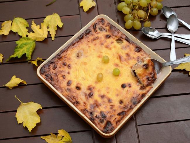 Gâteau au raisin frais et fromage blanc