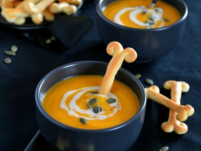 Velouté au potiron, orange et 4 épices
