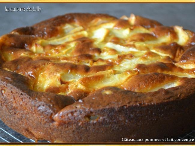 Gâteau aux pommes et lait concentré sucré