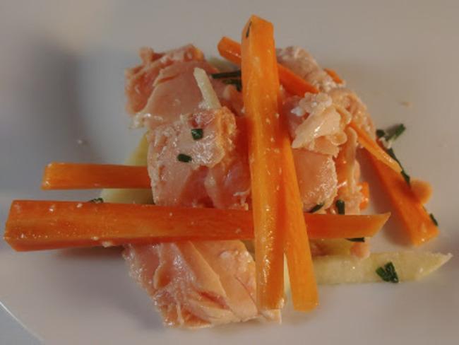 Tataki de saumon citron vert et clementine