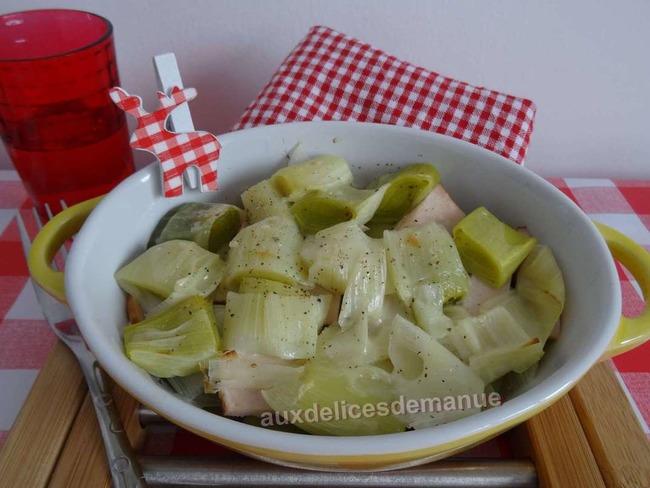 Cassolette poireau poulet